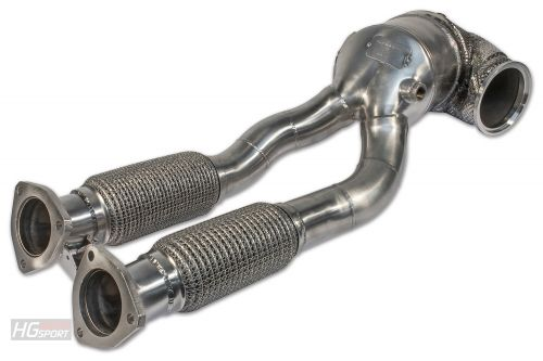 HJS ECE Downpipe Audi TTRS 8S + RS3 8V 400PS