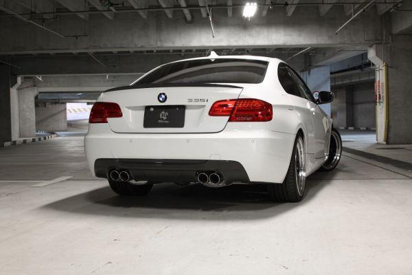 3DDesign Carbon Diffusor für BMW 3er E92 E93 mit M-Paket mit Duplex AGA (335i)