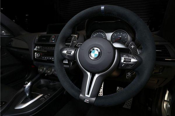 3DDesign Carbon Schaltwippen für BMW FXX M-Fahrzeuge silber Indikator