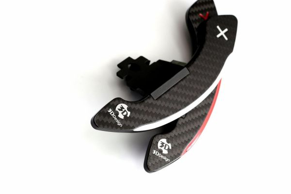 3DDesign Carbon Schaltwippen für Mini FXX Fahrzeuge silber Indikator