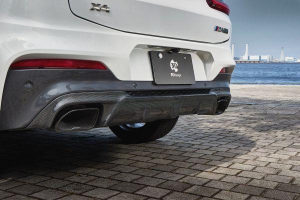 3DDesign Carbon Diffusor für BMW G02 X4 M-Paket