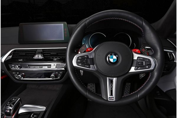 3DDesign Carbon Schaltwippen für BMW FXX Non-M-Fahrzeuge silber Indikator