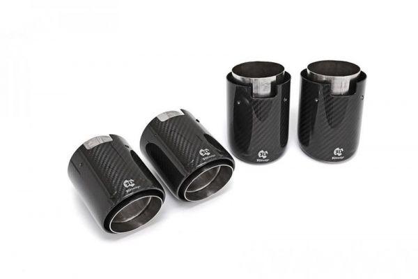 3DDesign Carbon Endrohre 4-flutig für 90mm Durchmesser